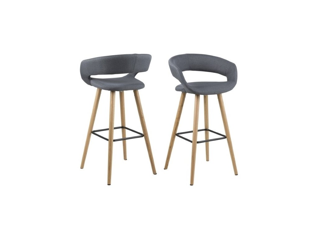 Židle barová GRACE tmavě šedý