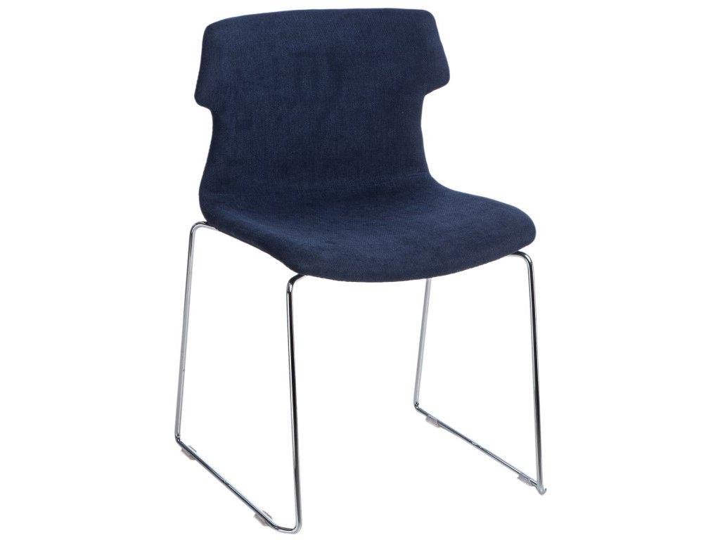 Židle TECHNO SL polstrování modré 1817