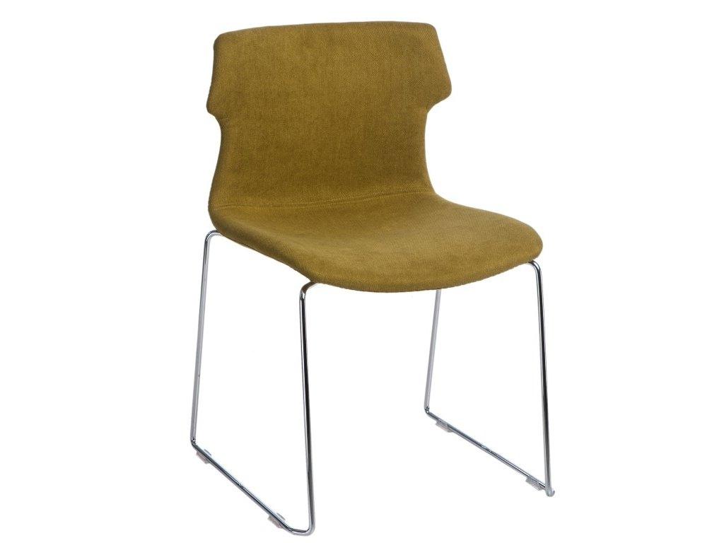 Židle TECHNO SL polstrování zelené 1816