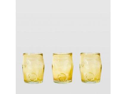 Sada sklenic Squeezed Trio zlatá