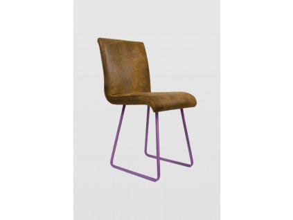 Židle BROWNIE s fialovými nohami
