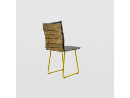Židle SHINGLE šedá se žlutými nohami