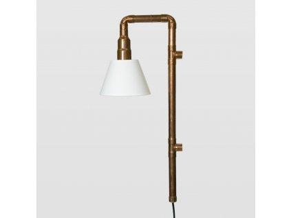 Lampa Wand měděná malá se stínidlem