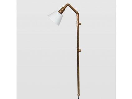 Lampa Wand měděná velká se stínidlem