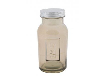 Vysoká sklenice s krytím z recyklovaného skla GREY 6,5X13,5ze Španělska