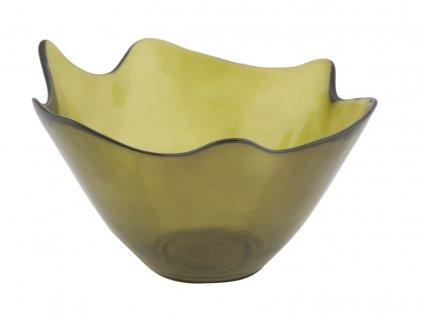 Dekorační mísa z recyklovaného skla GREEN 20X12 ze Španělska