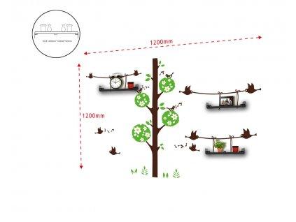 Samolepky na zeď BIRDS AND TREE