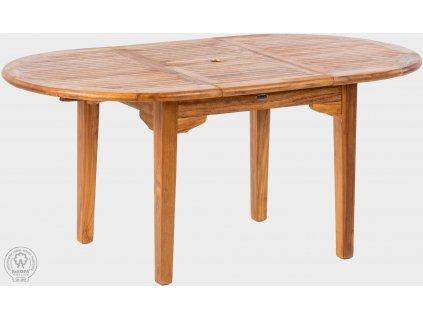 Teakový stůl rozkládací 100x130-180 cm ELEGANTE