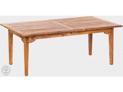 Teakový stůl rozkládací 120x200-300 cm ELEGANTE II