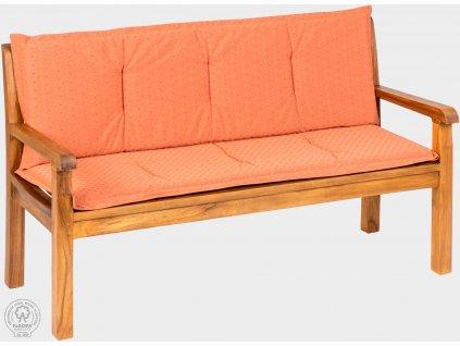 Polstr na lavici - cihlová barva KARLAS lavice Pietro 210