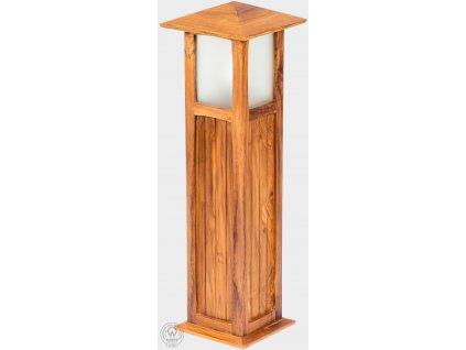 Teaková elektrická lampa LUCIO II