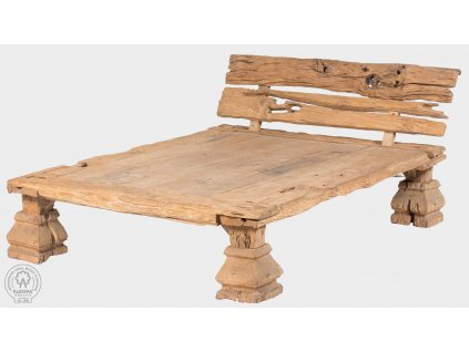 Teaková relaxační postel POSTEL RUSTIKAL