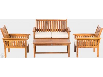Teaková lavice - sofa 195 cm ROSALINE II