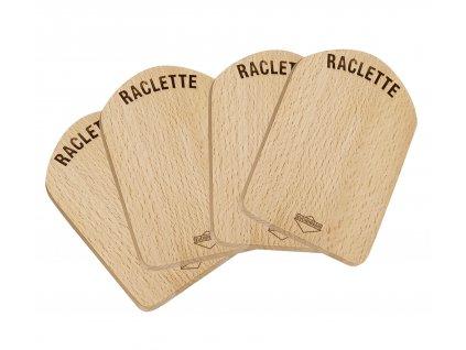 Raclette prkénko dřevěné set 4 ks