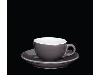 Espresso šálek, tm. šedá