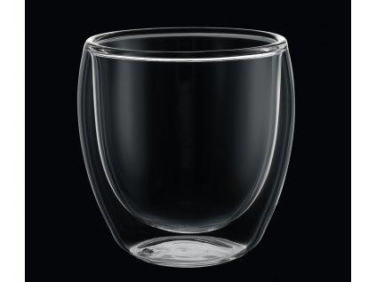Set 2 skleněných šálků na kávu 250 ml