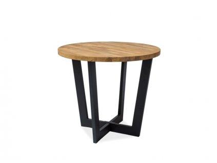 Stůl CONO litý dub/černý 90x90