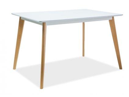 Stůl DECLAN A bílý/buk 120x80