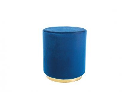 Taburet FURLA zlatý/tmavě modrý samet polstrování č.106