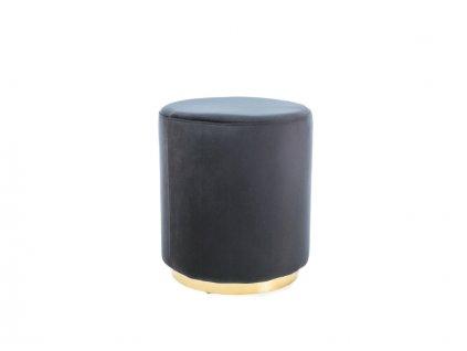 Taburet FURLA zlatý/černý samet polstrování č.105