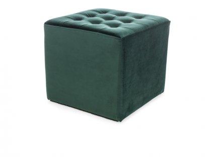 Taburet LORI velvet zelený bluvel 78