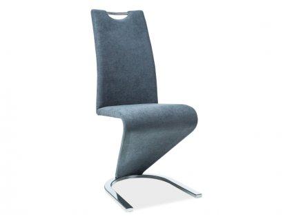 Židle H090 antracit materiál/chrom