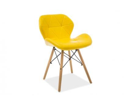 Židle MATIAS buk/žlutá