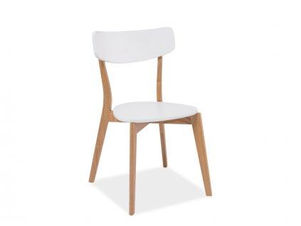 Židle MOSSO dub/bílá