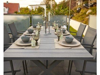 stůl rozkládací 240-310 hliník HPL