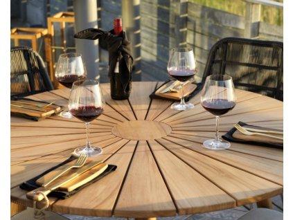 kulatý stůl Teak Parga