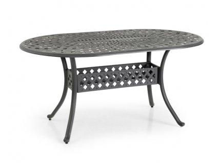 antracitový stůl oválný Vichy