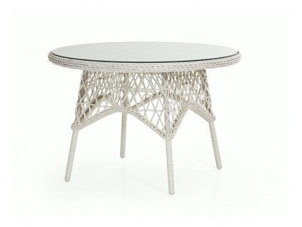 Azurový kulatý stůl 110 cm