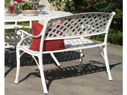 bílá zahradní lavice Vichy