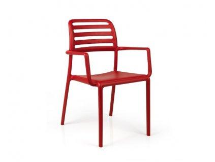 Židle Costa červená