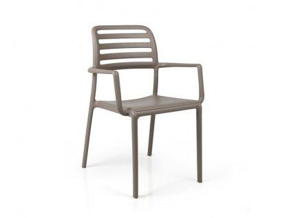 Židle Costa tmavošedá