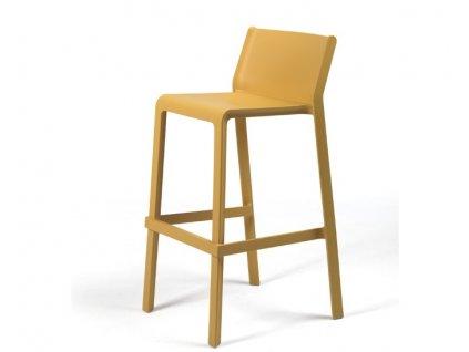 Trill barové židle hořčicové
