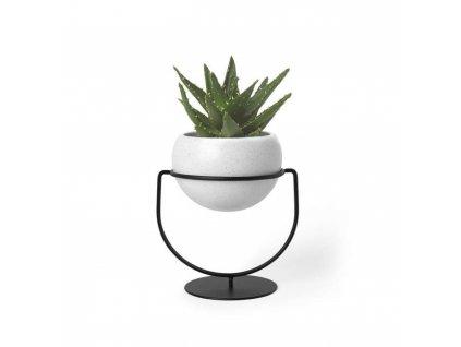 UMBRA květináč NESTA bílý - kov, keramika