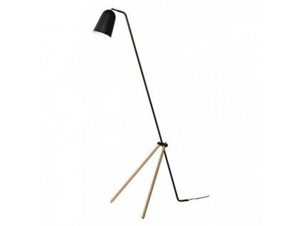 FRANDSEN podlahová lampa GIRAFFE černá - dubové nohy