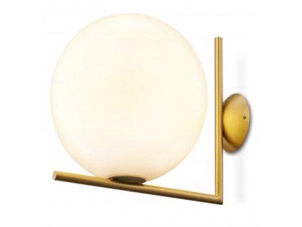 Lampa Nástěnná lampa HALM 20 - mosaz, sklo