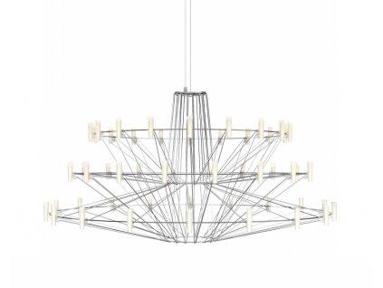 Závěsná lampa BALLERINA chrom - LED, sklo