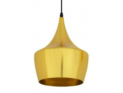 Závěsná lampa BET SHADE FAT zlatá - zlatý střed