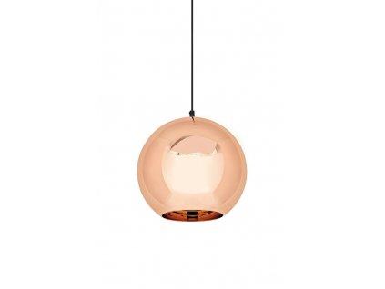 Závěsná lampa BOLLA UP ROSE GOLD 20 - metalizované sklo