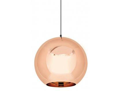 Závěsná lampa BOLLA UP ROSE GOLD 40 - metalizované sklo