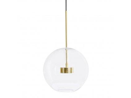 Závěsná lampa CAPRI - LED, kov, sklo