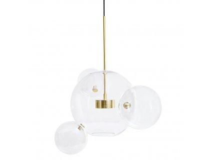 Závěsná lampa CAPRI 4 - LED, sklo, kov