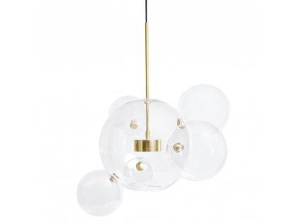 Závěsná lampa CAPRI 6 - LED, sklo, kov