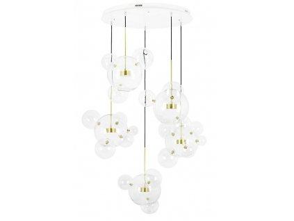Závěsná lampa CAPRI DISCRETO 5 - LED, sklo, kov