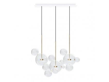 Závěsná lampa CAPRI LINE 3 - LED, sklo, kov
