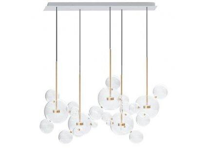Závěsná lampa CAPRI LINE 5 - LED, sklo, kov
