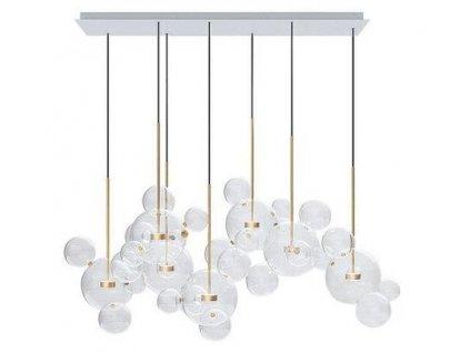 Závěsná lampa CAPRI LINE 7 - LED, sklo, kov